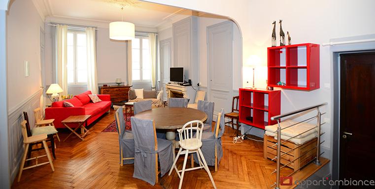 Appartement meubl lyon 6 location t5 meubl foch appart 39 ambiance - Location studio meuble lyon 2 ...