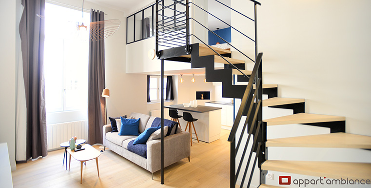Appartement meubl lyon 2 location t2 bellecour appart 39 ambiance - Location studio meuble lyon 2 ...