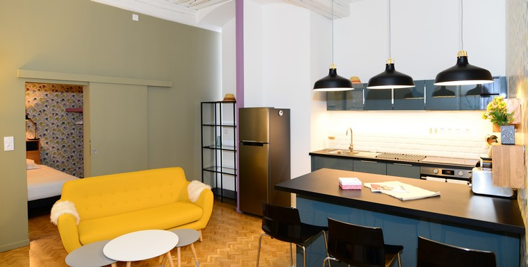 Appartement meubl lyon 2 location t2 cordeliers appart 39 ambiance - Location studio meuble lyon 2 ...